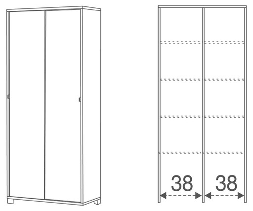 2-sliding doors unit kit - 798k - Quadrante collection