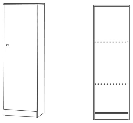 1-door column unit - 302 - Multiuso collection