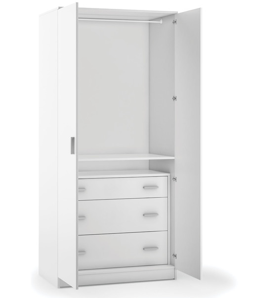 2-door wardorbe unit kit with 3-drawer unit - 447k + 448k - Multiuso collection