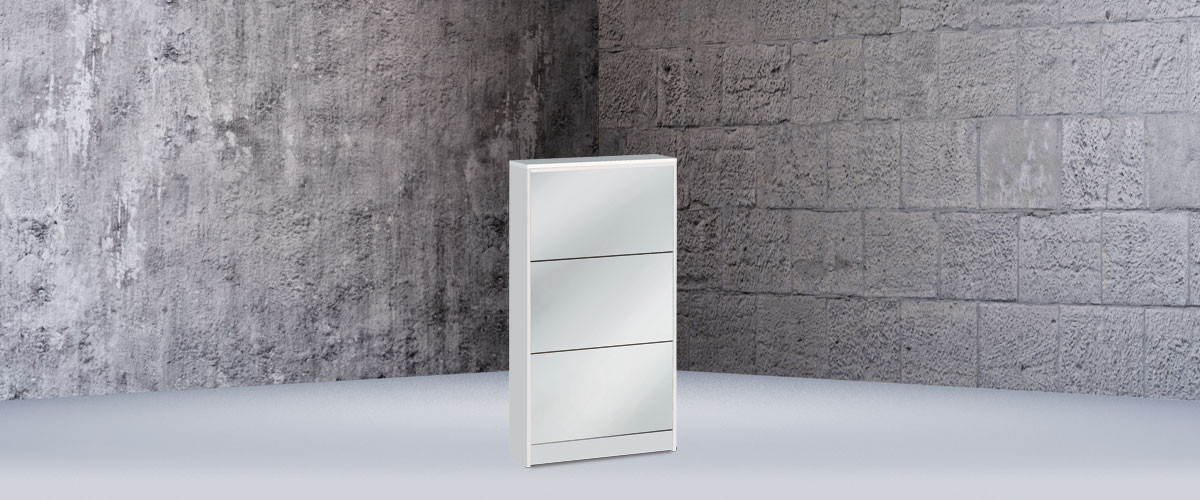 Shoe-rack 3 mirror doors d18 - 183sp - Multiuso collection