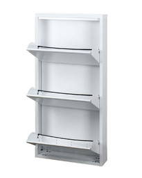 Steel shoe-rack 3 doors d15 - As103 - Multiuso collection